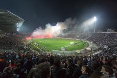 PAOK VS PANATHINAIKOS GREEK SUPERLEAGUE Stock Photo