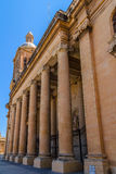 Paola Church Columns Stock Photography