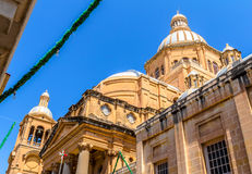 Paola Church Dome. Dome of the Paola parish church, largest church in maltese islands Royalty Free Stock Images