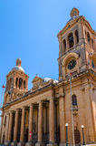 Paola Church Facade. Facade of the Paola parish church, the largest church in maltese islands Royalty Free Stock Photography