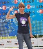 Paola Cortellesi al Giffoni Film Festival 2011 Immagini Stock Libere da Diritti
