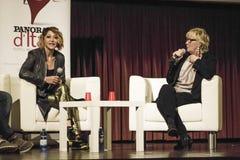 Paolaminaccioni en detassis van de conferentiepers ciak Royalty-vrije Stock Fotografie