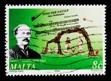 Paolino Vassallo ` Inno per Natale ` och Kristi födelse, jul 2006 - kompositörserie, circa 2006 Royaltyfria Bilder