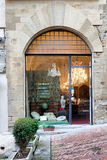 Paolo Burzi Antiquities Shop Arezzo Tuscany Royaltyfria Foton