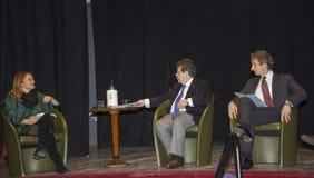 Paolo perrone,enzo bianco monica maggioni conference press Stock Image