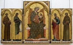 Paolo Veneziano Dziewica i dziecko 1354 luwr Zdjęcie Stock