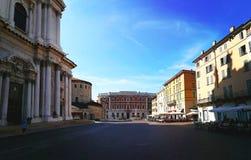 Paolo VI fyrkant i den Brescia staden, norr Italien Royaltyfria Foton