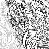Paon décoratif tribal de vecteur illustration stock