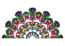 Paons décoratifs d'arrière illustration libre de droits