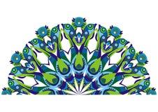 Paons décoratifs d'arrière Images stock