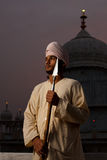 Paonta Sahib Young Sikh Man with Spear Royalty Free Stock Photography