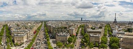 Paorama de la antena de París Imágenes de archivo libres de regalías