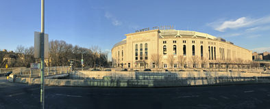 Paoramic dell'Yankee Stadium nel Bronx Fotografie Stock Libere da Diritti
