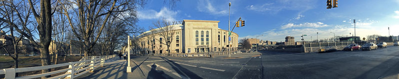 Paoramic do Yankee Stadium no Bronx Imagem de Stock