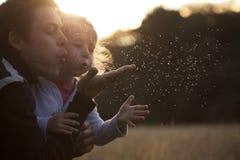 Papà che gioca con il bambino Fotografie Stock