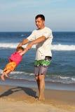 Papà con il bambino Fotografie Stock Libere da Diritti