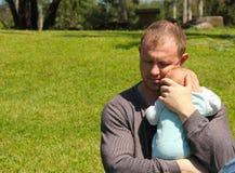 Papà con il bambino Immagini Stock