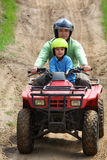 Papà con il figlio Fotografia Stock