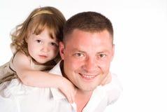 Papà con la figlia Fotografia Stock