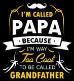 PAPÀ di Papa Shirt Design For Proud Immagine Stock Libera da Diritti