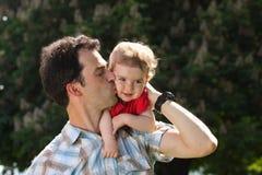 Papà e bambino Immagine Stock