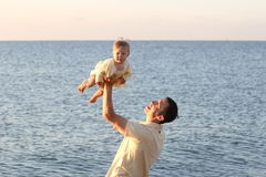 Papà e figlia Fotografie Stock Libere da Diritti