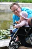 Papà e figlia Fotografia Stock