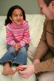 Papà e figlia Fotografie Stock