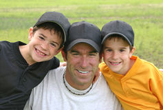 Papà e ragazzi Fotografia Stock Libera da Diritti