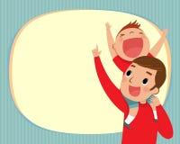 Papà e ragazzo illustrazione di stock