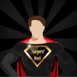 Papà eccellente con il concetto dell'eroe eccellente, vettore felice eps10 di giorno di padri royalty illustrazione gratis