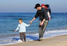 Papà, figlio e figlia fotografia stock