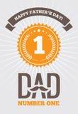 Papà numero uno 1 royalty illustrazione gratis