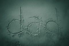 Papà scritto nella sabbia Immagine Stock Libera da Diritti