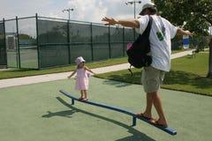 Papá con la hija Fotografía de archivo libre de regalías