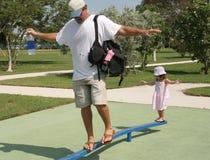 Papá con la hija Imágenes de archivo libres de regalías