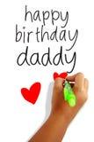 Papá del feliz cumpleaños Imágenes de archivo libres de regalías