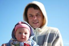 Papá e hija Fotografía de archivo libre de regalías