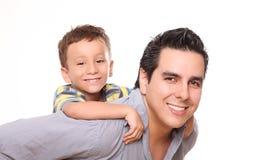 Papá e hijo Imagen de archivo libre de regalías