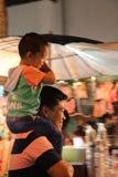 Papá e hijo Foto de archivo libre de regalías
