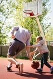 Papá e hijo Foto de archivo