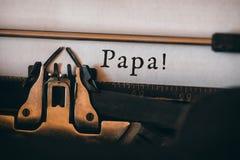 Papá escrita no papel fotos de stock