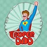 Papá estupendo para la celebración del día de padre ilustración del vector