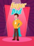 Papá estupendo para la celebración del día de padre stock de ilustración