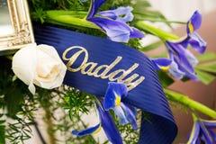 Papá fúnebre de la cinta Imagen de archivo libre de regalías