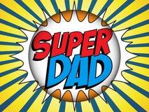 Papá feliz de Day Super Hero del padre Fotografía de archivo