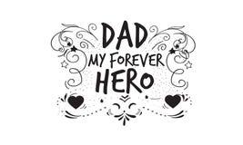 Papá mi icono del héroe del forever libre illustration