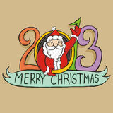 Papá Noel 2013 ilustración del vector