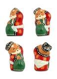 Papá Noel - 4 diversos ángulos Imágenes de archivo libres de regalías