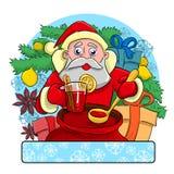Papá Noel alegre stock de ilustración